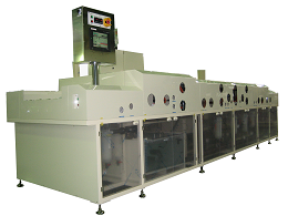 Medium sized cleaning machine in individual process type