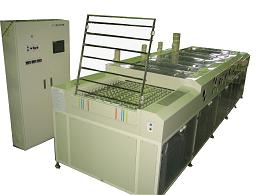 Cleaning machine with raising mechanism