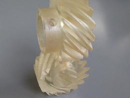 3Dプリンタ加工例スパイラルギア